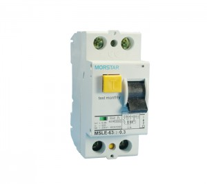 MSLE-63Residual Current Operated Circuit BreakerwithOver-currentProtection (EarthLeakageCircuit BreakerwithOverCurrentProtection)