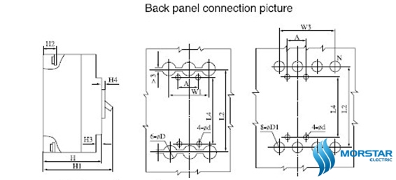back panel connection pickture